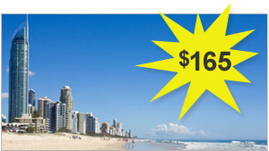 Picture at the Gold Coast and Price $165 floating inside